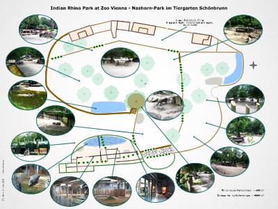 Übersichtsplan Nashorn-Park in Wien
